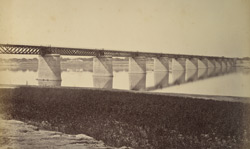 Railway Bridge across the Jumna at Allahabad.